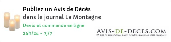 la montagne publier un avis de d c s avis de. Black Bedroom Furniture Sets. Home Design Ideas