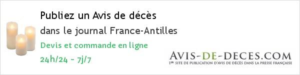 Avis de deces France-Antilles