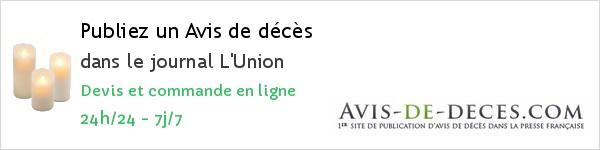 Avis de deces L'Union