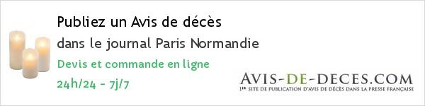 Avis de deces Paris Normandie